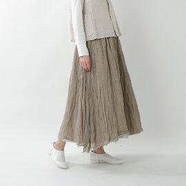 Gauze# リネンレイヤードスカート g578-ma