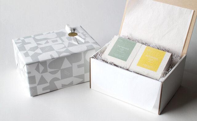 ギフト専用ボックスを用いての有料ラッピング例(330円)