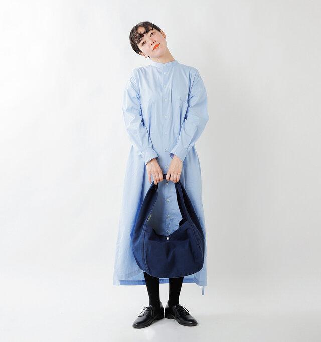 model saku:163cm / 43kg  color : navy / size : one