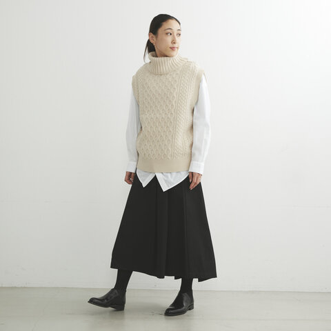Traditional Weatherwear|CABLE TURTLE NECK VEST ケーブル タートル ネック ベスト