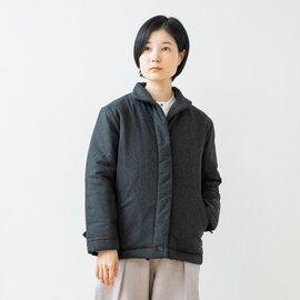 TUTIE.|ウール混中綿キルトスタンドネックジャケット