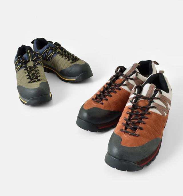カラーは全2色。ステッチラインの糸の色を変えるなど、レトロな配色も魅力的な一足です。