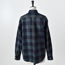 SCYE BASICS|コットンオックスフォードチェックボクシーレギュラーカラーシャツ 5219-33503-hm