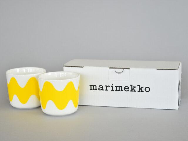 偶数個ご購入いただけますと、marimekkoのギフトボックスに入れてお届けいたします。ギフトにもおすすめです。ラッピングもご好評いただいておりますので、ぜひご利用くださいませ。