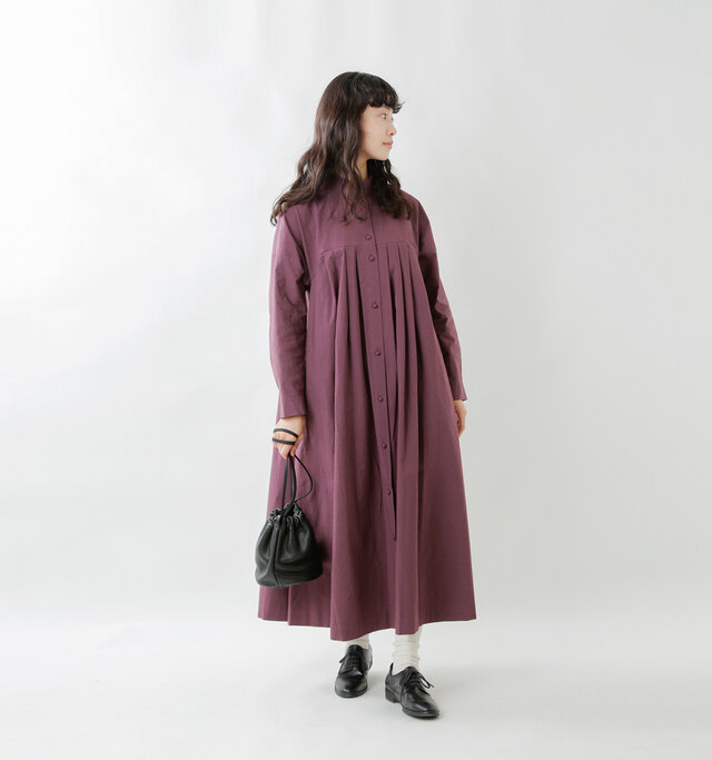 model mariko:162cm / 47kg  color : grape / size : F