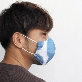 hirali|不織布マスク用 薄手ガーゼのマスクカバー ~冬凪~