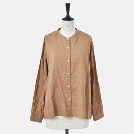nicholson and nicholson クリンクルコットンノーカラーシャツ skoll-crinklecotton-ma【2021AW予約】
