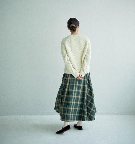 GRANDMA MAMA DAUGHTER|チェックタックフレアスカート