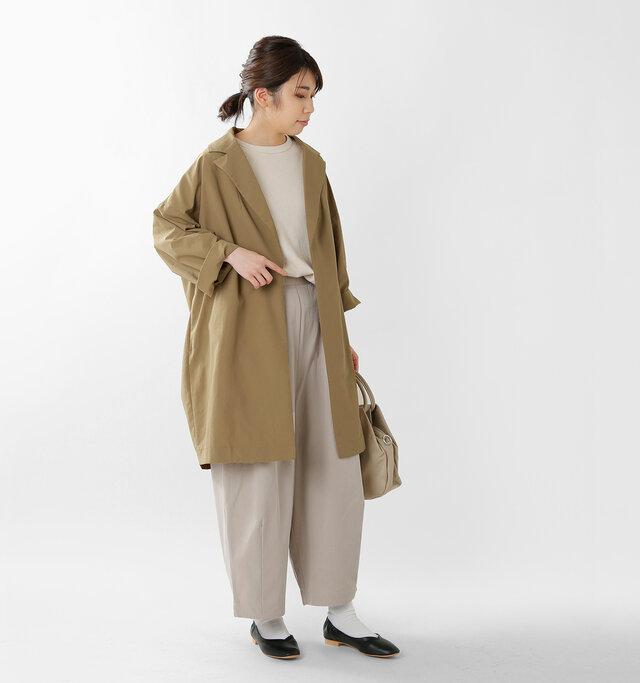 model hikari:165cm / 48kg  color : camel / size : F