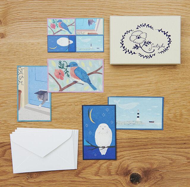 BLUE / 青い箱は動物がいるシーンを切り取った爽やかなシリーズ。