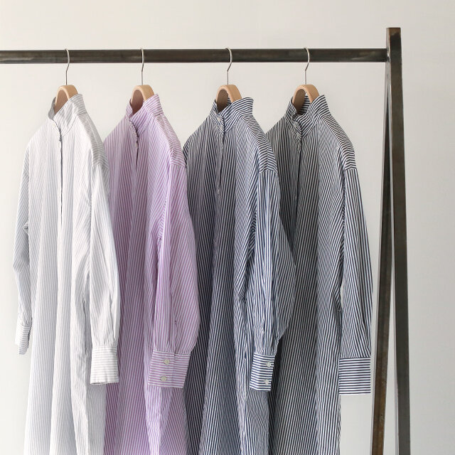 左より、grey-stripe、purple-stripe、navy-stripe、black-stripe