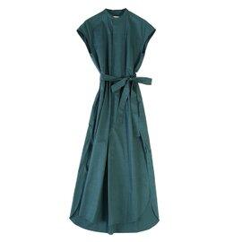 unfil|cotton-twill sleeveless shirt dress コットンツイルノースリーブシャツドレスワンピース・ONSP-UW132 アンフィル