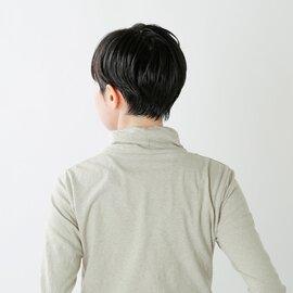 NARU ムラ糸リサイクルコットンタートルネックカットソー 65130-fn