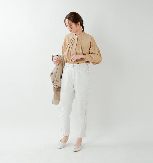 model yama:167cm / 49kg color : white / size : S