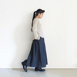 ichi Antiquités|Linen AZUMADAKI Stripes Skirt