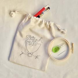 クロヤギシロヤギ|刺繍道具スターターセット