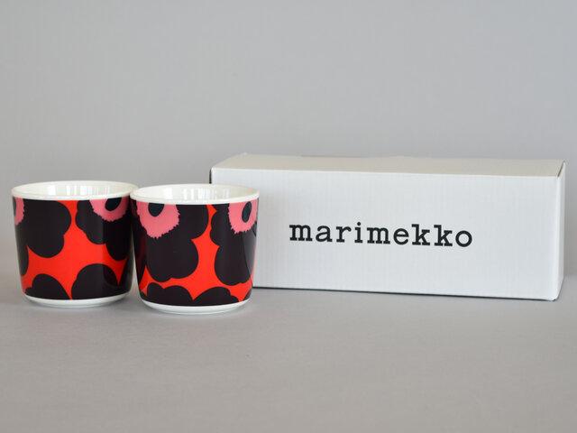 ラテマグは偶数個ご購入いただけると、marimekkoのロゴ入りボックスでお届けいたします。プレゼントにも喜んでいただけますよ。