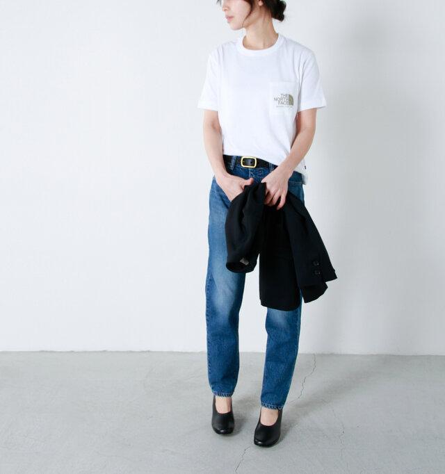 model:167cm / 49kg color : white / size : Women's S