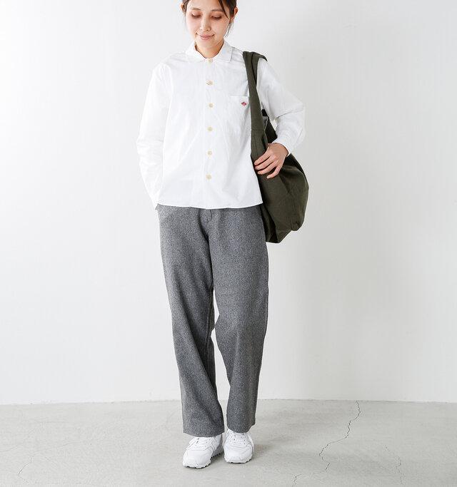 model yama:167cm / 49kg color : white / size : 34