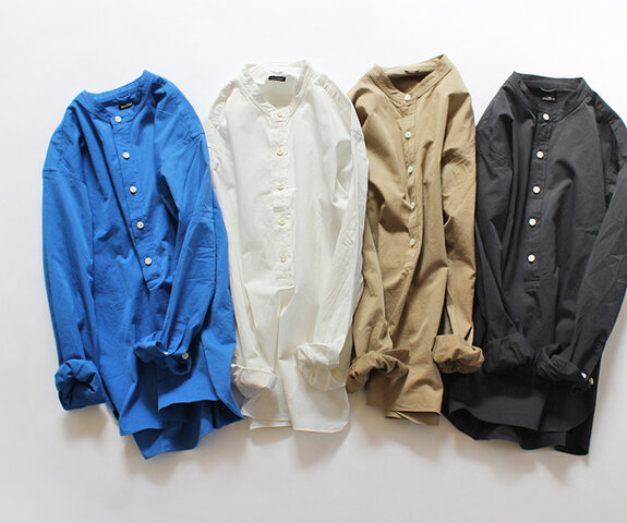 maillot|mature satin stand pull over shirt サテンスタンドプルオーバーシャツ MAS-17258