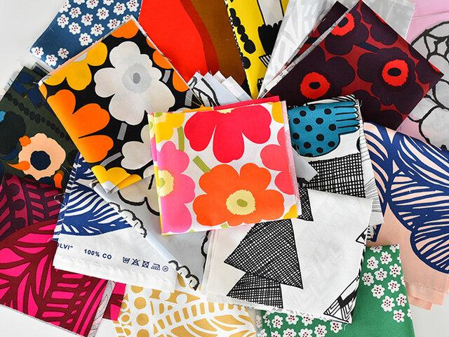 色鮮やかでデザインの種類も豊富、新作も続々入ってくるmarimekkoのはぎればかりを5枚セットにしました!marimekkoの持つ魅力を存分にお楽しみいただけます。