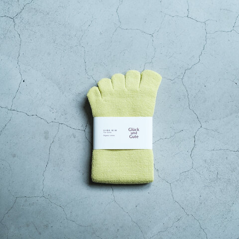 Gluck und Gute|五本指「足の肌着」絹と綿 organiccotton