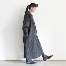 ichi Antiquités|Natural dyed Linen Shirt Dress