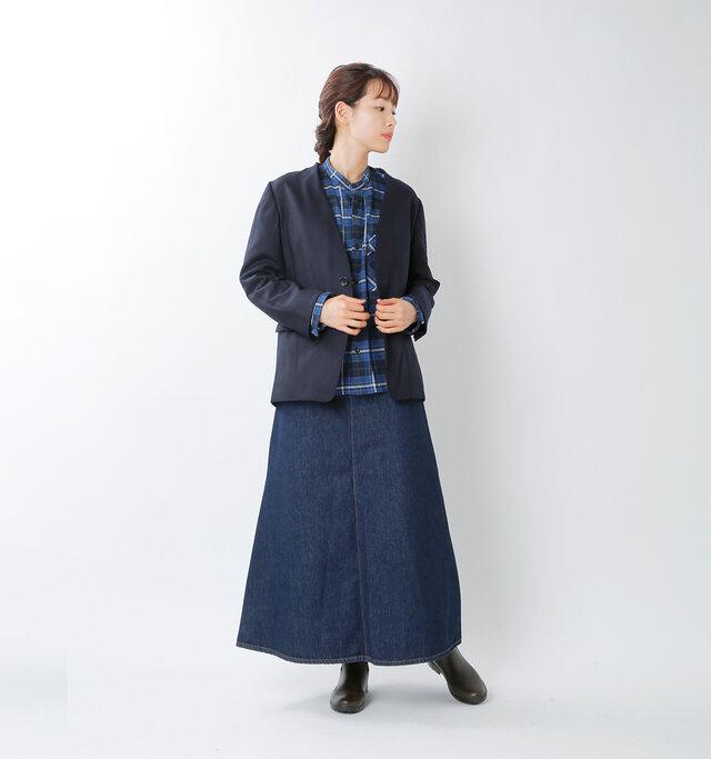 model mizuki:168cm / 50kg  color : dark navy / size : 36