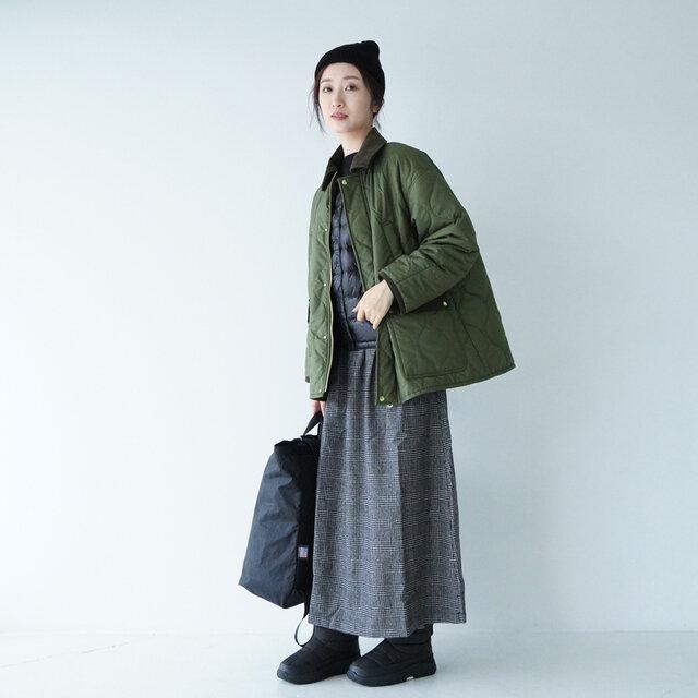 モデル:166cm / 47kg color : khaki(col.55) / size : フリーサイズ