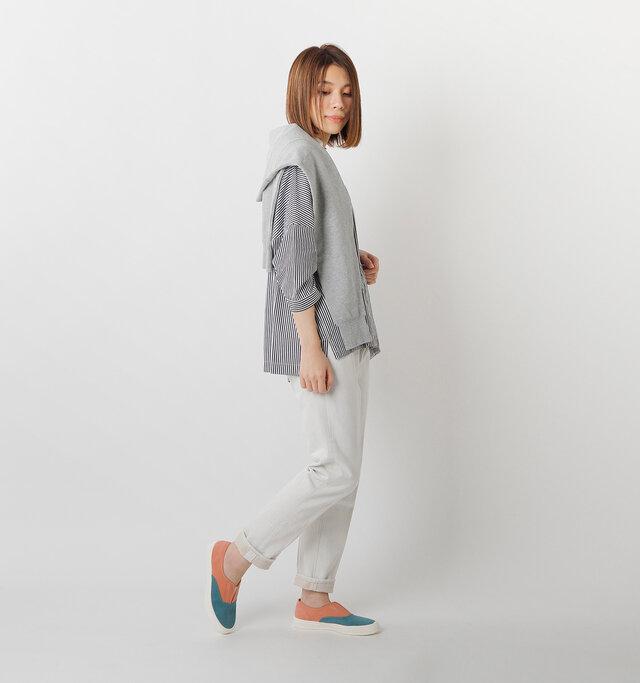 model mei:165cm / 50kg  color : pink green / size : 24.0㎝