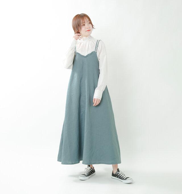 model saku:163cm / 43kg  color : blue gray / size : 38