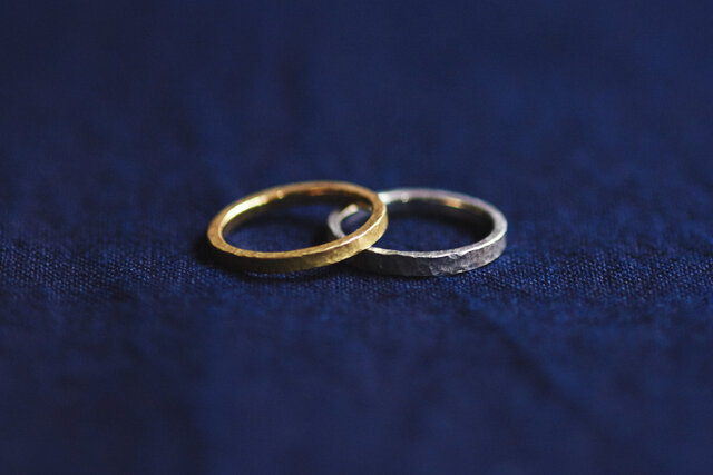 KARAFURU|結婚指輪 透 -TOU- (平打ち K18)