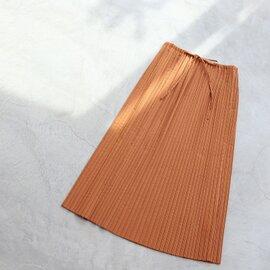 yuni|リネン混 サテンプリーツスカート 1701SK007191