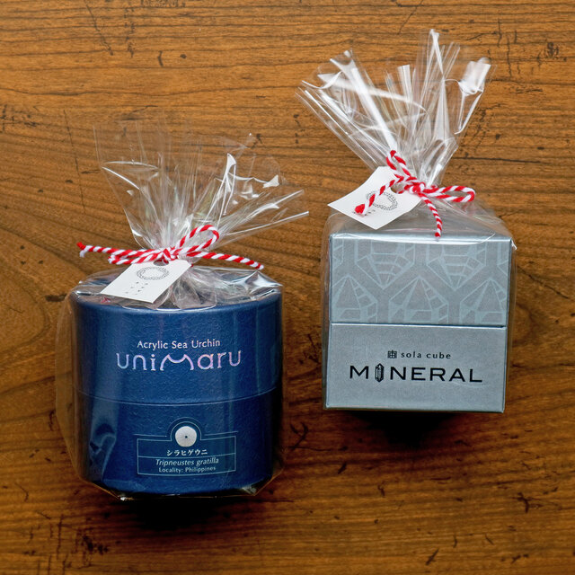 ■Unimaru、sola cube Mineral ラッピング例