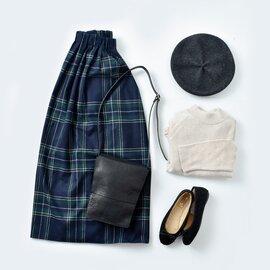 O'NEIL OF DUBLIN|aranciato別注 ウールブレンドタックチェックロングスカート s26592-rf