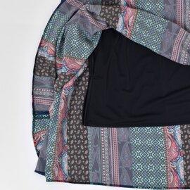 Le Melange|ペイズリーストライププリントロングスカート 6943301-yn