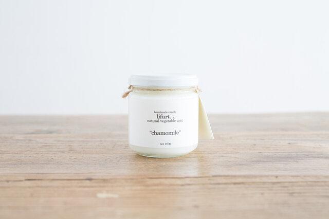 【chamomile】 カモミールの花の香りは、リラックスタイムにぴったり。 穏やかさと清涼感のなかに渋さも感じるような、深みのある香り。