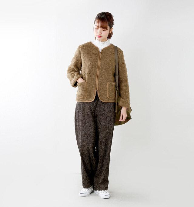 model kanae:167cm / 48kg color : bark / size : XXXS