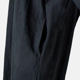 ina|ネックギャザー後身配色2重ワンピース 184110-mt