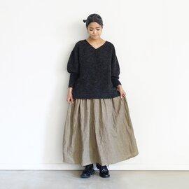 ichi Antiquités|Alpaca Wool V-neck Knit Pullover