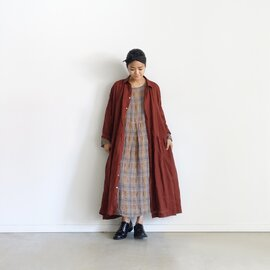 ichi Antiquites|Italy Linen Check Dress
