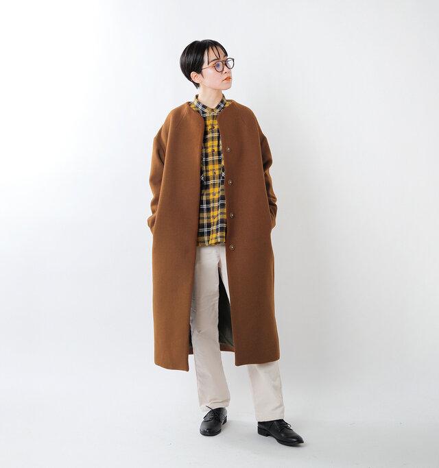 model saku:163cm / 43kg  color : brown / size : S