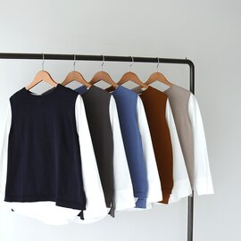 mao made インナーシャツ付き コットンニット ベスト 111144 マオメイド