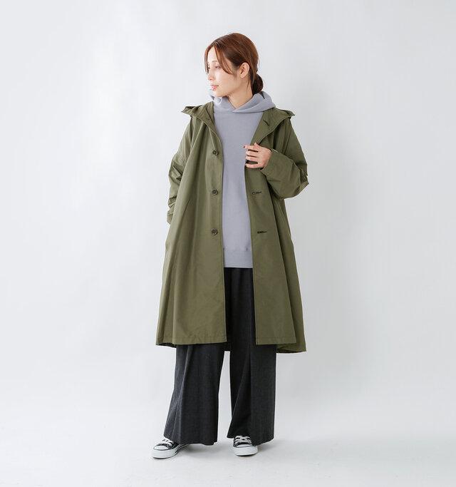 model yama:167cm / 49kg color : olive / size : M