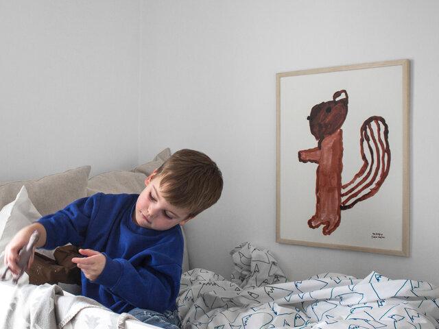 お子さまのお部屋にもおすすめです。シンプルな壁に、ほっこりとしたアクセントを添えてくれます。