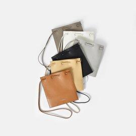 "FEEL AND TASTE|シュリンクイタリアンカウレザーショルダーバッグ""flat bag mini"" f111b141-tr"