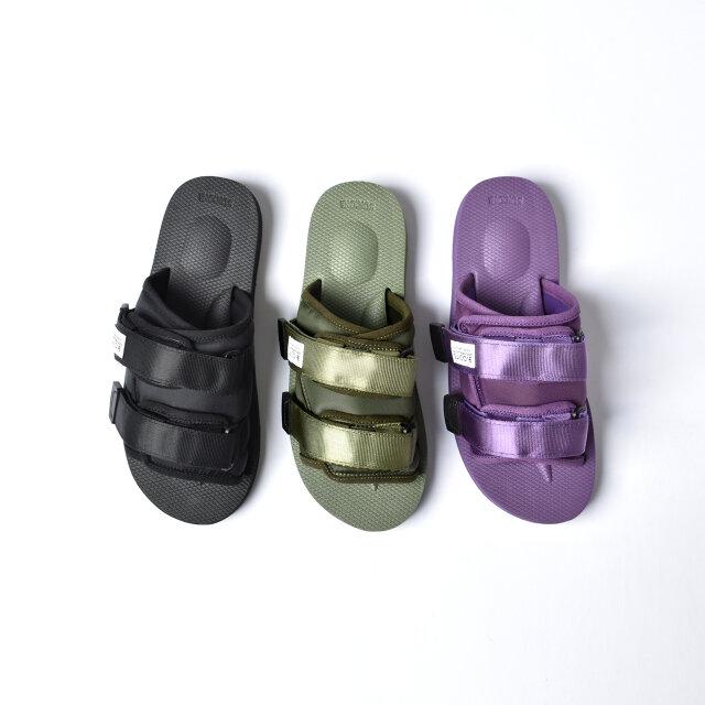 左から、black、olive、purpleの3種類。 ユニセックスなデザインですので男性の方にも着用いただけます。