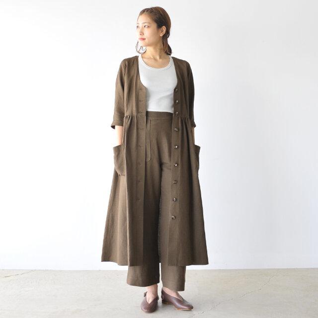 モデル:170cm / 54kg color : brown / size : 2(M)