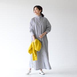 SETTO|オッカケ ロング シャツ OKKAKE LONG SHIRT スタンドカラー ロング丈 マキシ丈 シャツ ブラウス ワンピース STL-SH024 セット