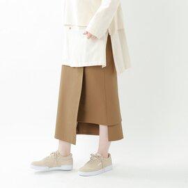 "Graphpaper コンパクトポンチラップロングスカート""Compact Ponte Wrap Skirt"" gl203-40035b-rf"